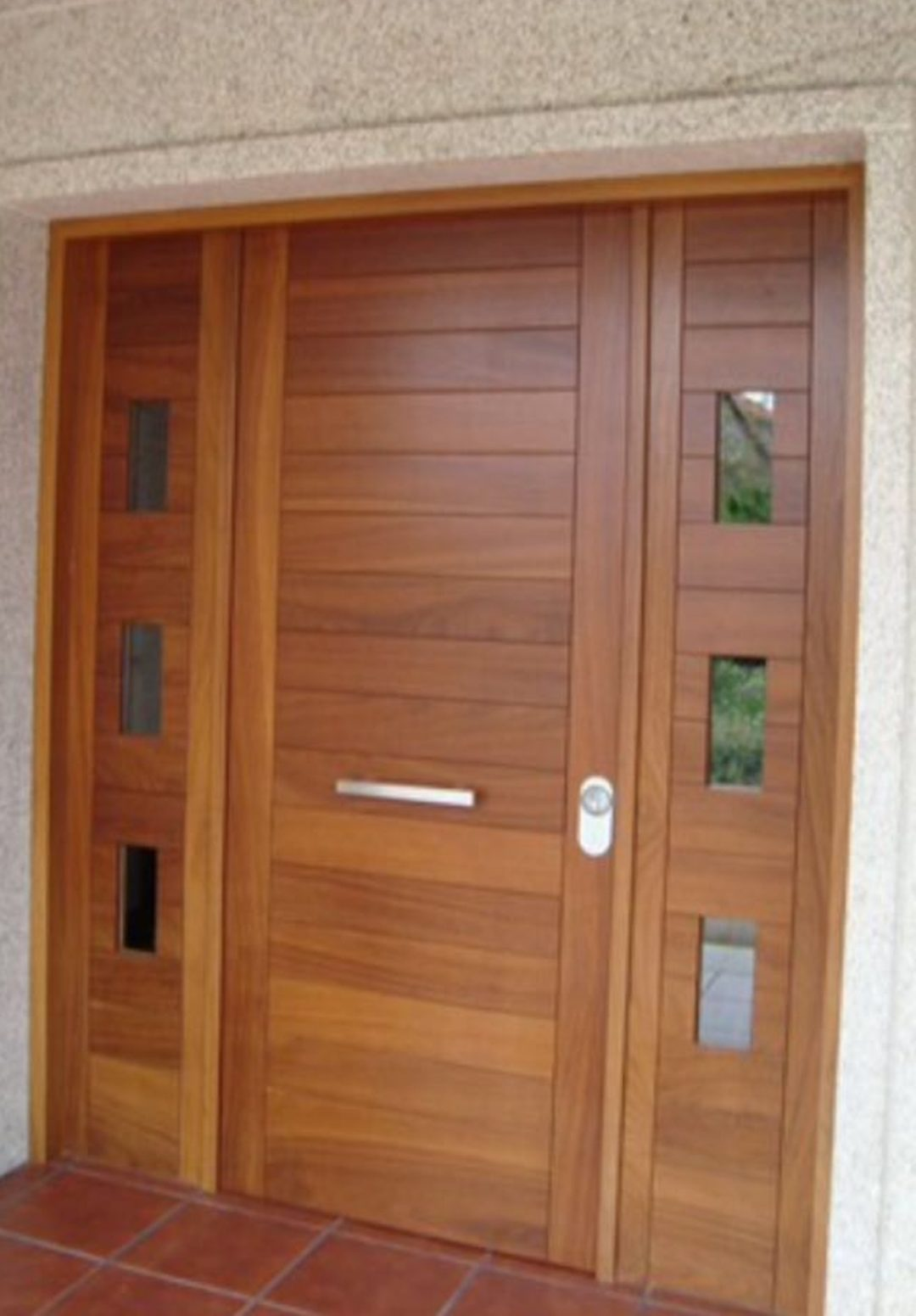 Puerta de entrada madera a medida puertas lis - Puertas de entrada madera ...