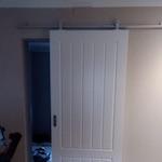 Puerta interior corredera carril visto